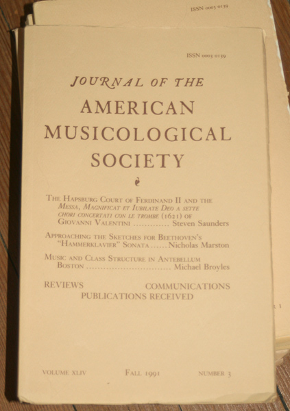 american musicological society dissertations Caldwell has presented at conferences in canada, the united states, and europe, including papers at the national meeting of the american musicological society (autumn 2014 and 2017), the medieval academy of america (spring 2015), and the renaissance society of america (spring 2017.